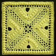 Ravelry: Bee Hives and Clover Afghan Block by Joyce Lewis