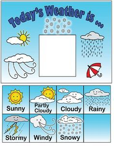 Observe and keep track of the weather each day with this fun chart.