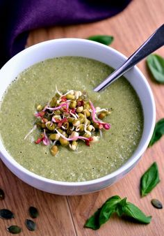 http://www.coconutandberries.com/2014/08/08/green-power-soup-broccoli-basil-pumpkin-seed/