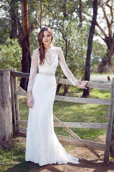 Wedding Dress: Karen Willis Holmes - www.stylemepretty.com/lookbook/designer/karen-willis-holmes  View entire slideshow: Lace Dresses We Love on http://www.stylemepretty.com/collection/747/