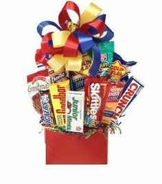 Junk Food Galore Gift Basket Idea - http://mygourmetgifts.com/junk-food-galore-gift-basket-idea/