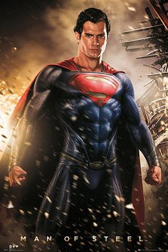 Póster Superman, Man of Steel. Explosión