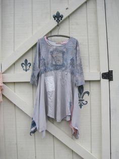 Lagan look dress XLXXL Boho dress rustic tattered by ShabyVintage, $52.00