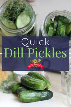 Dill pickles are quick and easy to make right at home with no food color or dyes found in so many store bought varieties. Try this easy dill pickle recipe! Quick Pickled Cucumbers, Pickling Cucumbers, Preserving Cucumbers, How To Pickle Cucumbers, Canning Tomatoes, Easy Dill Pickle Recipe, Pickles Recipe, Canning Dill Pickles, Cucumber Canning