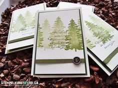 Stampin Up Evergreen Christmas card