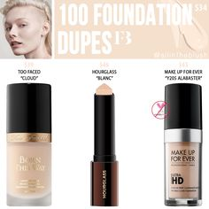 Fenty Beauty 100 Pro Filt'r Soft Matte Longwear Foundation Dupes - All In The Blush Foundation Dupes, Too Faced Foundation, No Foundation Makeup, Foundation Shade, Lipstick Dupes, Makeup Dupes, Beauty Dupes, Drugstore Beauty, Beauty Tricks