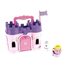 Exclusive Fisher-Price Little People Play 'N Go Castle - Pink Princess by Fisher-Price, http://www.amazon.com/dp/B008K88UAG/ref=cm_sw_r_pi_dp_waQNqb066N6H3