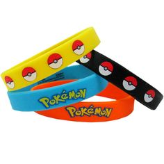 Pokemon 'Pikachu and Friends' Rubber Bracelets (4ct)