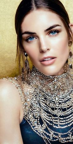 blue-eyed beauty in sparkling Ralph Lauren Nùmero Ru December 2013: Hilary Rhoda By Sebastian Kim