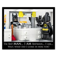 "LEGO® Batman Bathroom Decor: ""I'm Batman!"""