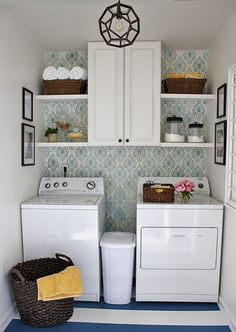 Valuable Small Room Storage Ideas for Our Space : Astonishing Modern Laundry Room Small Room Storage Ideas