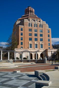 The beautiful art deco City Hall in Asheville, North Carolina
