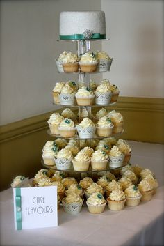 Cupcakes : wedding cupcake tower cupcakes dessert Cupcakes   Yea ...