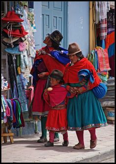 One of many beautifully dressed indigenous groups here in Ecuador. Come and experience the diversity and beauty of the 17 different indigenous groups and 27 unique ethnic groups here in the country for yourself!     www.elnomad.com  Twitter/elnomad - #onlyinECUADOR