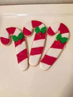 Candy canes sugar #cookies | Courtney's Confections | #christmas @courtneysconfectionsok