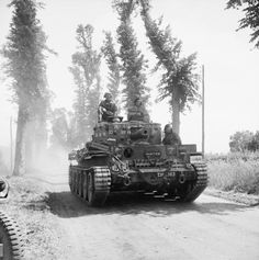 A Centaur Mk IV tank of the Royal Marines Armoured Support Group near Tilly-sur-Seulles, Normandy, 13 June 1944 - pin by Paolo Marzioli