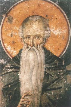 Venerable Euthymius the Great - Orthodox Church in America. Commemorated on January 20 Fresco, Byzantine Icons, Byzantine Art, Tempera, Fervent Prayer, Lives Of The Saints, The Monks, Orthodox Icons, Mural Painting