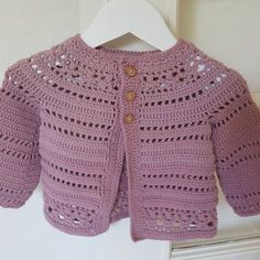 Crochet Baby Design Gina - floral lace baby/child cardigan Crochet pattern by Vicky Chan Designs Crochet Baby Bibs, Crochet Cardigan Pattern, Crochet For Kids, Crochet Patterns, Booties Crochet, Crochet Designs, Crochet Hats, Love Knitting, Baby Knitting