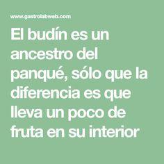 El budín es un ancestro del panqué, sólo que la diferencia es que lleva un poco de fruta en su interior Interior, New Recipes, Healthy Recipes, Easy Recipes, Meals, Deserts, Food Portions, Indoor, Interiors