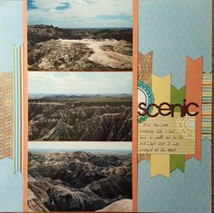 Travel Scrapbook Pages, Vacation Scrapbook, Scrapbook Page Layouts, Scrapbook Albums, Scrapbook Cards, Scrapbooking 101, My Road Trip, A30, Vacation Trips