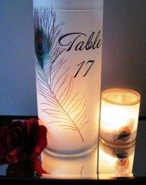 Peacock Table Numbers Luminaries Set Of 15
