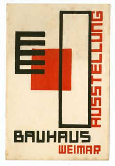 Postcard: Bauhaus Exhibition by Kurt Schmidt