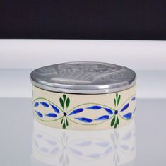 Trinket Box BMT MEXiCO Basket of Flowers Ceramic Keepsake Dresser Box Pewter Lid | Collectibles, Decorative Collectibles, Trinket Boxes | eBay!