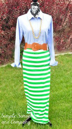 Simple Simon and Company: Easy Striped Maxi Skirt Tutorial