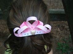 Princess Tiara Crown Sculpted Ribbon Hairbow by Ribbon Refinery