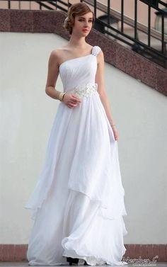 Nice White evening gown 2018/2019 Check more at http://fashionmyshop.com/review/white-evening-gown-20182019/