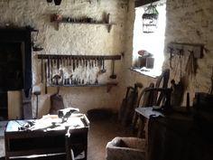 Inside Souter Johnnie's workshop