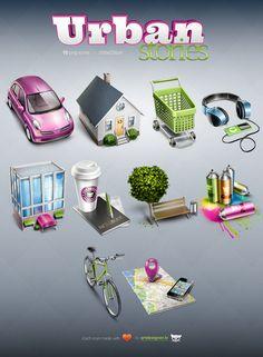 Storie Urbane - 10 gratuiti HQ icone da Tatyana Suhodolska, attraverso Behance