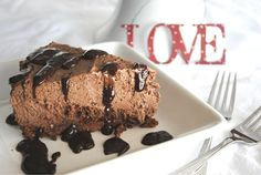 Chocolate Hazelnut Tart with Chocolate Mousse- a decadent #valentines dessert!