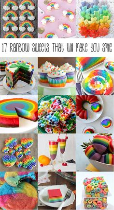17 Rainbow Sweets That Will Make You Smile – you'll taste the rainbow with this charming sweet collection!! #reciperoundups #rainbowdesserts #stpatricksdaydesserts #stpatricksday #desserts #sweetcollection #rainbowsweets