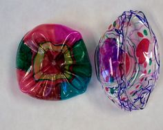 1st grade is making Chihuly 'Glass' bowls/forms!! We looked at how Chihuly ma...