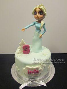 Doces Opções: Bolo de aniversário com a princesa Elsa