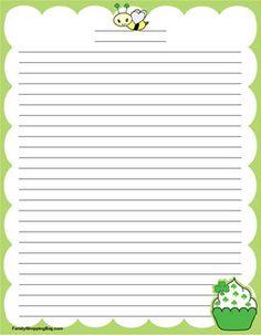 St Stationery, Stationery, Stationery - Free Printable Ideas from Family Shoppingbag.com