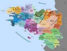 BRETAGNE: 'Les neuf pays historiques'     ✫ღ⊰n Plan France, Brittany France, Map Of Britain, Great Britain, Viva La France, Paris France, Bretagne France, Celtic Nations, Paris Nice