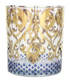 Patina Vie Golden Ikat Cocktail Glass