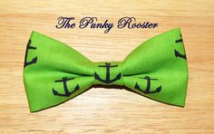 Anchors Aweigh Bow Tie Clip on Bow Tie Boys Bow by ThePunkyRooster, $8.95