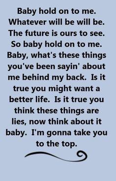 Baby Hold Onto Me - Eddie Money