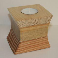 Reclaimed Natural Wood Votive Tea Light Candle Holder Oak by BBLUK, £25.00
