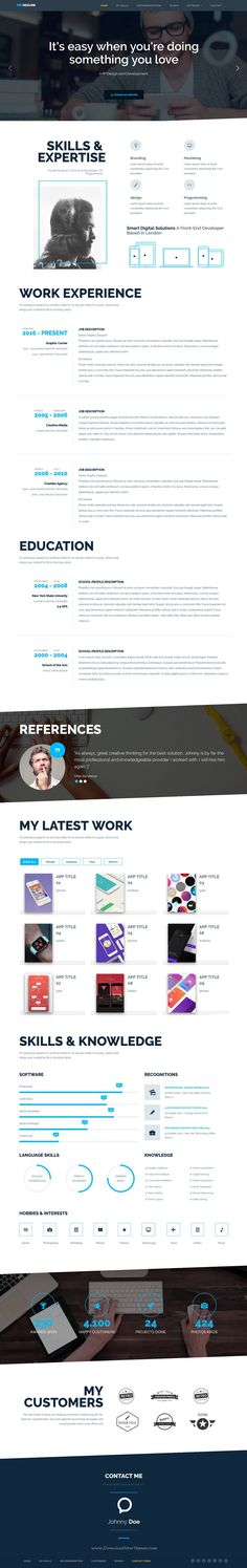 No need to turn the Internet upside down to get a personal resume - personal website resume