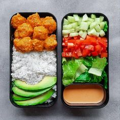 delicious vegan bento box lunch with Bang Bang Tofu (recipe from Plant Bas . - delicious vegan bento box lunch with Bang Bang Tofu (recipe from Plant Based … – Best Picture C - Lunch Meal Prep, Healthy Meal Prep, Healthy Snacks, Healthy Eating, Clean Eating, Bento Recipes, Tofu Recipes, Healthy Recipes, Diet Recipes