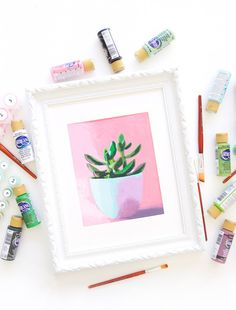 A throwback craft that you are going to love. This printable paint by number is easy and gives you foolproof results with a color key showing each color you need to complete the design. Free Printable Art, Printable Numbers, Free Printables, Diy Home Decor Projects, Craft Projects, Craft Tutorials, Gouache, World Famous Artists, Just Dream