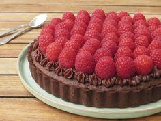 Chokoladetærte med hindbær1
