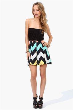 Chevron Dress - Multi