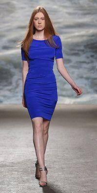 Rolando Santana designed this unique short sleeve Blue Fashion, Fashion Show, 3d Fashion, Rockin Robin, Short Dresses, Dresses For Work, Line Shopping, How To Feel Beautiful, Designer Collection