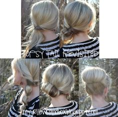 five hairstyles to do with the topsy tail!  From My Yellow Sandbox, a great hairstyle how-to blog