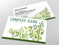 Great business card design for gardening agricultural natural classic business card design ideal for garden specialists customise a range of business card accmission Image collections